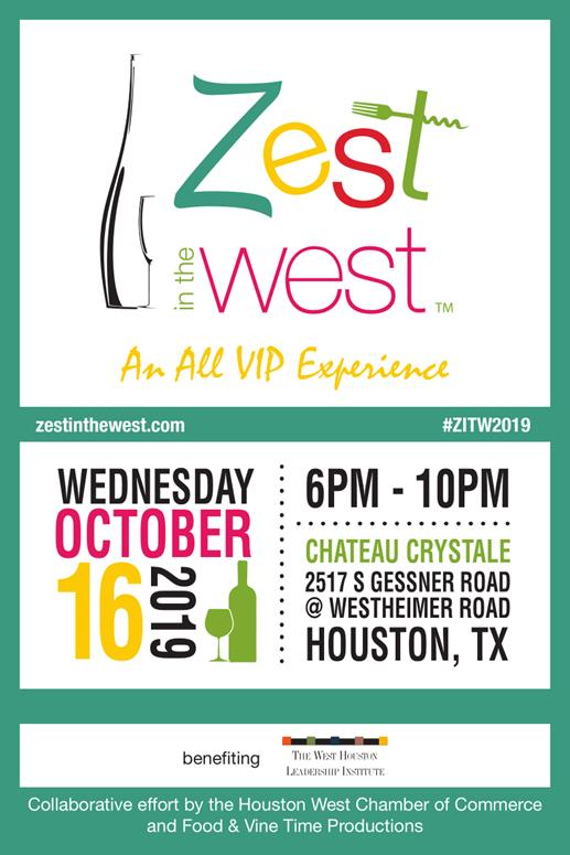Zest in the West Event Flyer - 2019